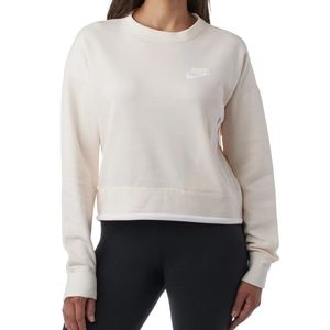Nike Women's Cropped Sweatshirt Crew  Neck Zipper